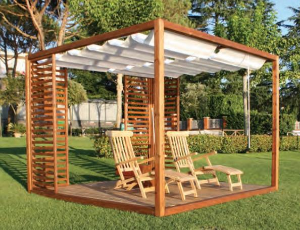 Il gazebo in legno idee per il design della casa - Pergola giardino ...