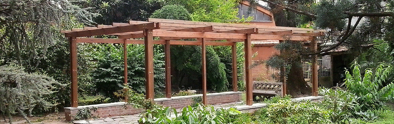 La tartaruga pergolati su misura in legno la tartaruga - Pergolati da giardino ...
