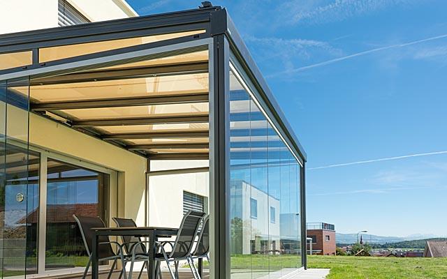 La tartaruga verande con tenda da sole la tartaruga - Strutture in alluminio per esterno ...