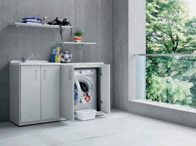 Copri lavatrice da esterno con modulo lavabo da esterno