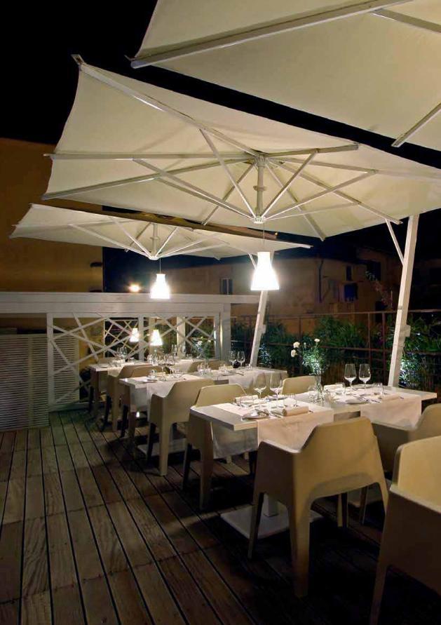 Ombrelloni da ristorante la tartaruga for Ombrelloni da giardino milano