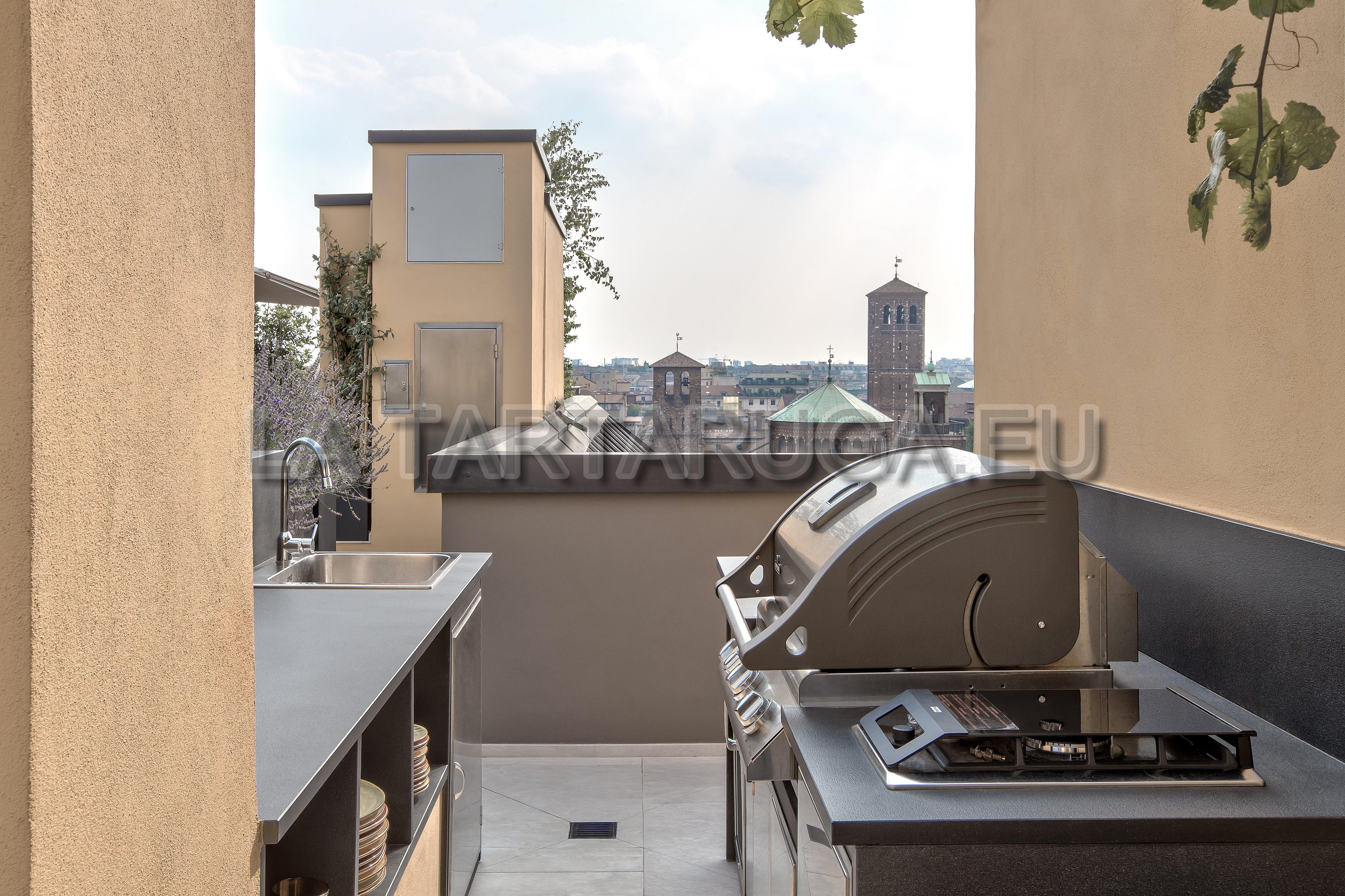 Aussenküche Mit Pizzaofen : Maßgeschneiderte backstein grillküche für den außenbereich