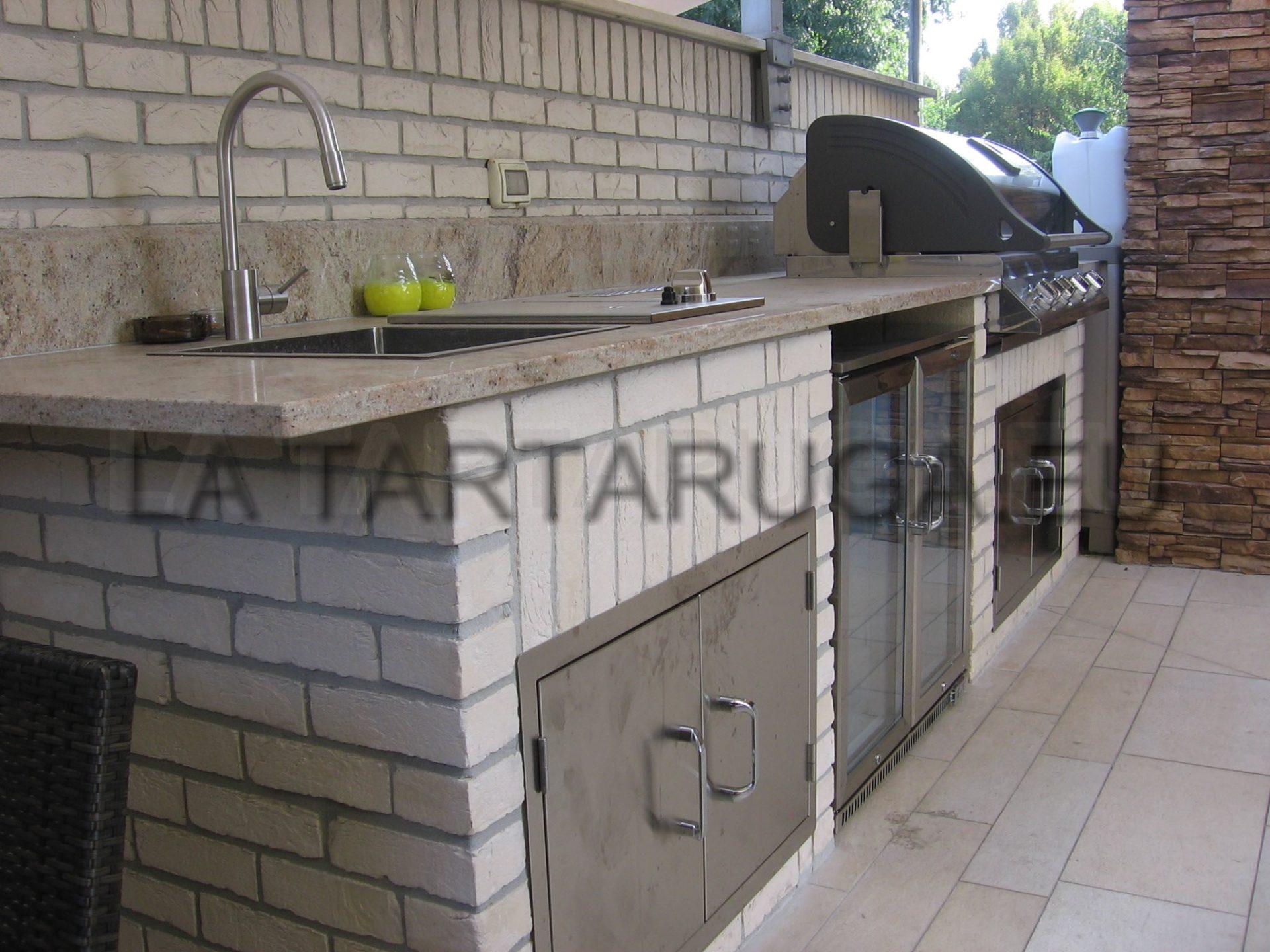 Türen Und Schubladen Für Die Außenküche : Maßgeschneiderte backstein grillküche für den außenbereich
